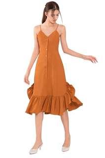 Doublewoot Midi Ruffle Dress