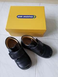 Dr. Kong Black Leather Shoes with Box