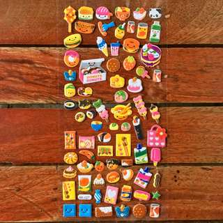 Puff Stickers (Food)