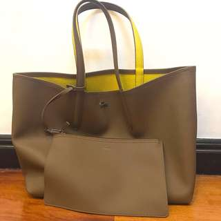 Lacoste Reversible Leather Tote Bag