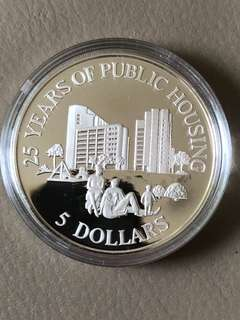 1985 $5 Sterling Silver Proof Coin