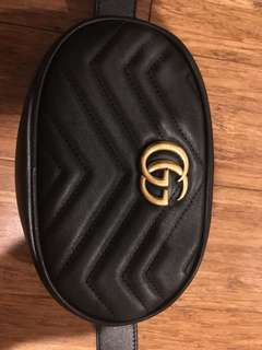 Authentic Gucci GG belt bag