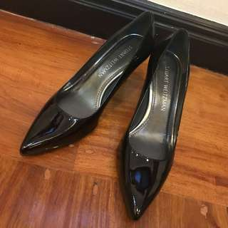 Stuart Weitzman Black Patent Pumps US 7.5