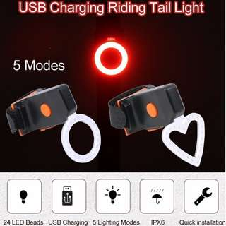 USB rechargeable bicycle LED tail light Mountain Bike/Road Bike