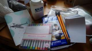 Schedule Book 手帳 DIY筆袋 Frixion Colours水筆 畫具 set