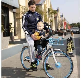 Portable bicycle child seat