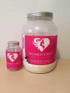 Women's Best Vanilla Protein and Fat Burner Pills