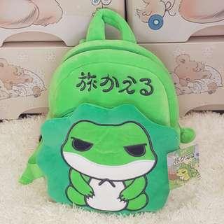 🚚 超夯蛙旅/旅行青蛙絨毛兒童雙肩背包