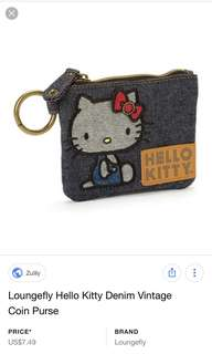 Authentic Hello Kitty Loungefly Denim Vintage Coin Purse