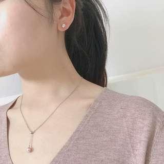 🚚 S925純銀淡水珍珠鎖骨鏈