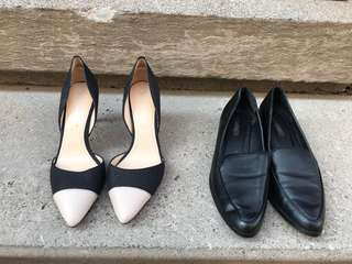 Heels and loafers