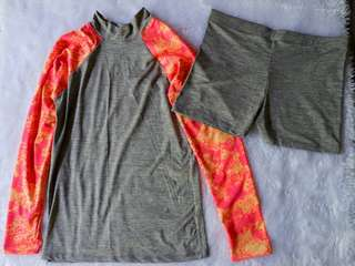 Orange & Gray Rashguard