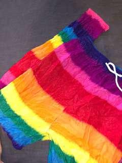 Rainbow Flowy Pants