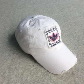 ADIDAS RIPPED THREE FOIL BASEBALL CAP WHITE OS