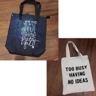 B1G1 tote bags