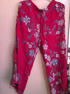 Brand new floral pink square pants