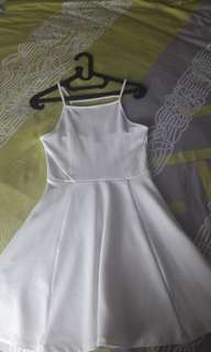 NEW H&M WHITE DRESS SIZE 34