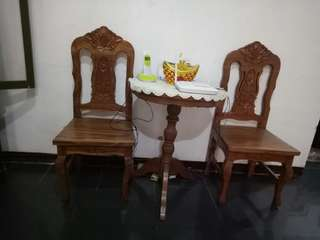 Narra coffee table dining set