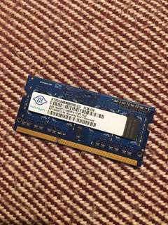 🚚 DDR3 PC3 2GB Nanya Ram with high quality chips, easy to upgrade your laptop. 南亞正品 DDR3 2G Nanya PC3 筆電記憶體 採用南亞原廠顆粒 品質可靠效能佳 七日內有問題可更換。