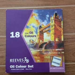 Reeves 18 pcs Oil Colour Set