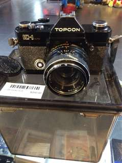 (UBT) Vintage Topcon IC-1 Camera & Lens 55mm with drybox