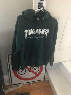 Forest green thrasher hoodie