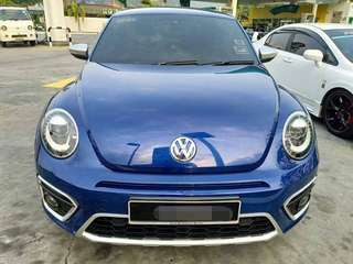 SAMBUNG BAYAR/CONTINUE LOAN  VOLKSWAGEN BEETLE DUNE 1.4 AUTO YEAR 2016 MONTHLY RM 1000 BALANCE 7 YEARS ROADTAX DEC 2018 LIMITED EDITION NEW FACELIFT TIP TOP CONDITION LEATHER SEAT PADDLE SHIFT LOW MILEAGE  DP KLIK wasap.my/60133524312/beetle