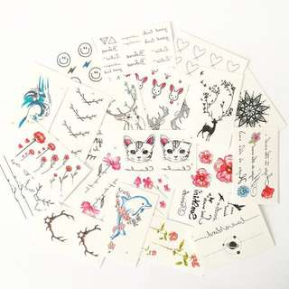🚚 [PO] 50 pieces of Temporary Minimalist Tattoo stickers