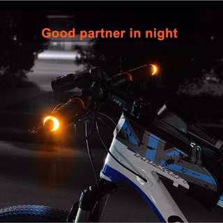 Ready Stock - A Pair Of Bicycle Handlebar Flashing Signal Light For Safety