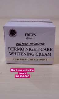 Night care whitening cream