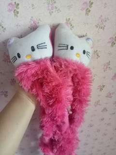 Sarung tv dan galon hellokitty