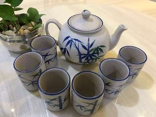 Japanese Teapot Set with 6 Cup