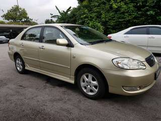 Cheapest Long Term Rental Toyota Altis 1.6A