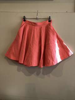 Topshop Jacquard Mini Swing Skirt