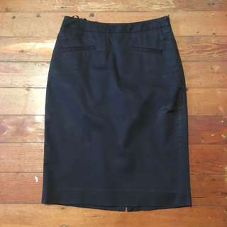 Saba black pencil skirt