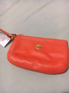 Authentic Coach Campbell Leather Medium Wrislet