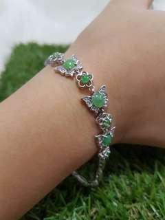 ⭐Bracelet GradeA Myanmar Jade (阳绿种)
