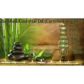 Bamboo Essential Oil (Certified Organic)
