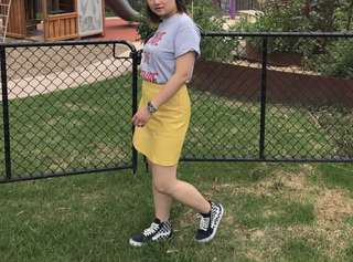 Zara Vegan Leather Mini Skirt