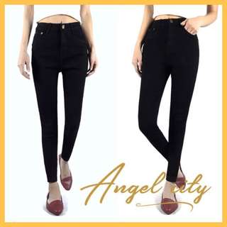 Angel City High Waist Black Skinny Jeans