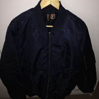 Navy Work or Casual Bomber Jacket L or 2XL