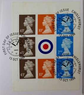 已蓋銷英國女皇頭郵票