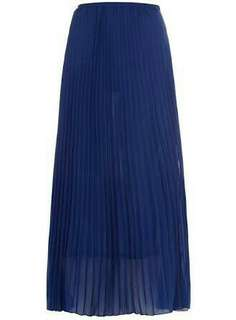 Alice & You electric blue pleat maxi skirt