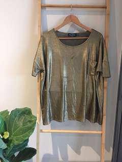 Evil twin oversized gold t-shirt