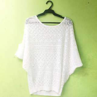 Knitted White Top