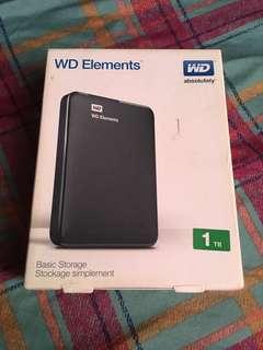 WD Elements 1 TB External Hard Drive USB 3.0