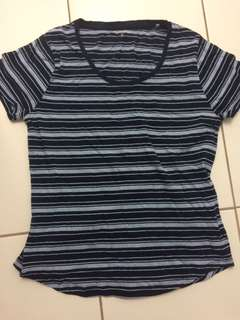 Size Small Blue Striped Top