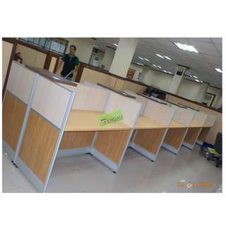 WORKSTATIONS CUBICLE (LAMINATES 3.2cm thick aluminum)