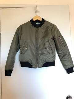 Khaki Kookai Bomber Jacket