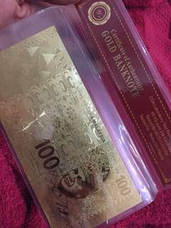 999 GOLD BANKNOTE